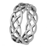 Celtic Knotwork Silver Band Ring 0527